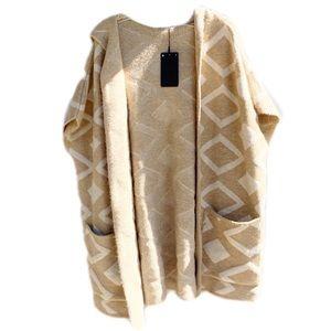 Zara   Oversized Thick & Cozy Wool Shrug